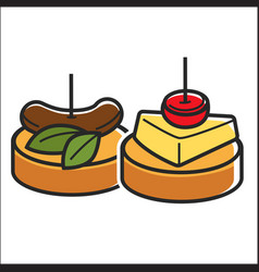 two small snacks vector image