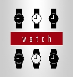 Watch icon set vector image