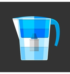 Water filter Flat design icon vector image vector image