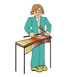 Xylophone on a white background vector image