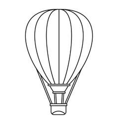 Air ballon icon outline style vector