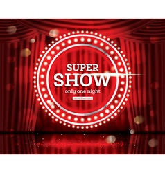 Super show open red curtains vector