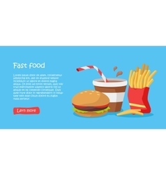 Tasty Fast Food Banner vector image