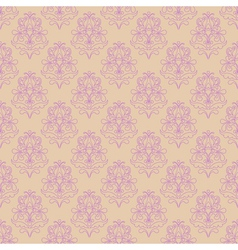Seamless pattern with decorative flowers - irises vector