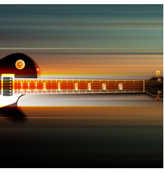 abstract grunge background with electric guitar vector image