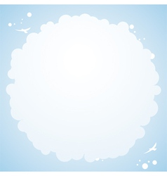 Cloud cirular border background vector