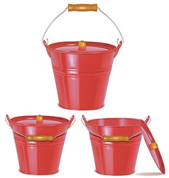 Bucket red vector