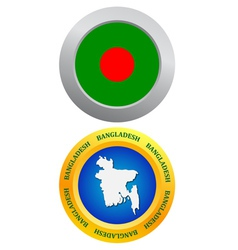 Button as a symbol bangladesh vector