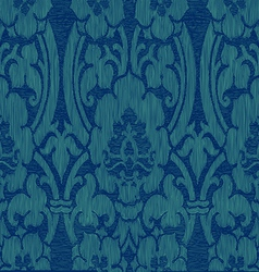 Seamless blue abstract striped floral pattern vector