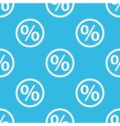 Percent sign blue pattern vector