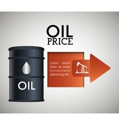 Oil prices infographic design vector