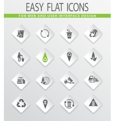 Garbage icons set vector