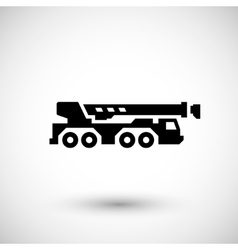 Heavy mobile crane icon vector