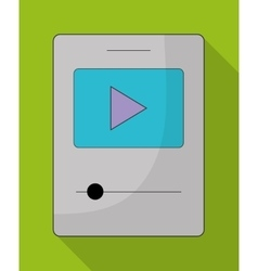 Mp3 and play icon music online and technology vector