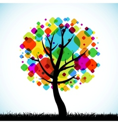 abstract tree colorful background vector image vector image