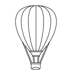 Air ballon icon outline style vector image