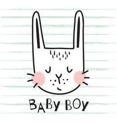 Baby boy bunny vector