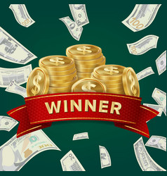 Big win billboard for casino winner sign jackpot vector
