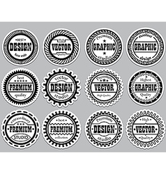 Collection award sticker for design studios vector image vector image
