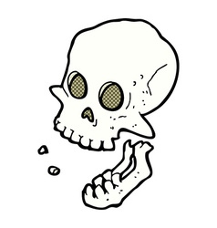 Comic cartoon laughing skull vector