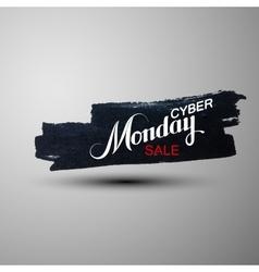 Cyber monday sale label vector