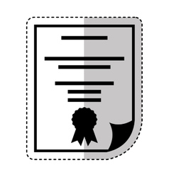 diploma document isolated icon vector image