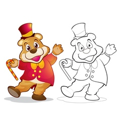 Fantasy mascot bear cartoon vector image vector image