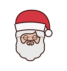Front face santa claus with christmas hat vector
