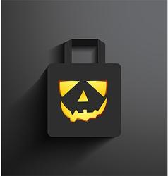 Halloween sale shopping bag vector image