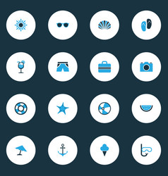 Hot colorful icons set collection of camera vector