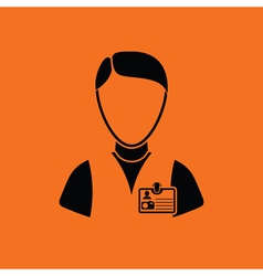 Icon of photographer vector