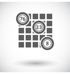 Keno icon vector image