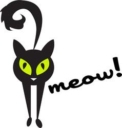 Meow cat vector