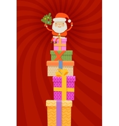 Merry Christmas and happy new year Santa Claus vector image vector image
