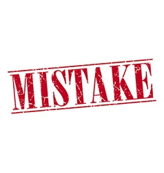 Mistake red grunge vintage stamp isolated on white vector