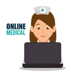 online medical design vector image