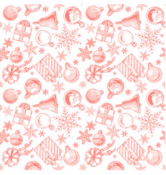 red christmas background seamless tiling vector image