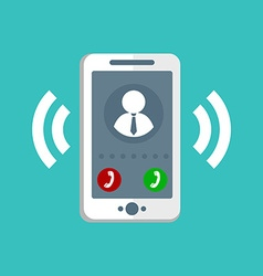 Ringing Phone Icon vector image vector image