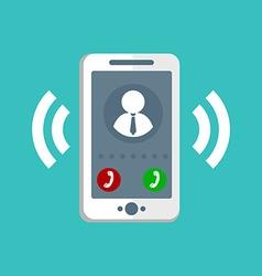 Ringing Phone Icon vector image