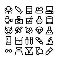 Science and technology icons 6 vector