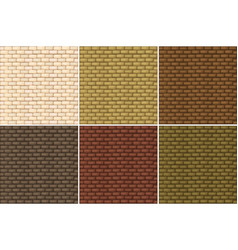 Seamless background with brickwalls vector