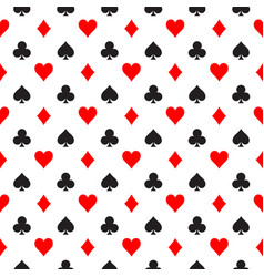 seamless pattern background of poker suits - vector image