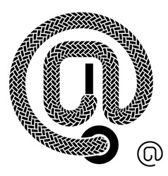 Shoe lace email symbol vector