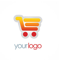 shopping cart sale logo vector image