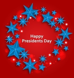 Stars Background for Happy Presidents Day vector image