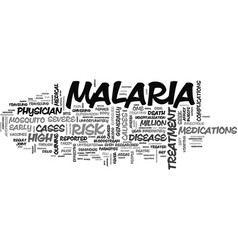 What is malaria what can be done if i contract it vector