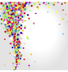 Whirlwind of confetti vector
