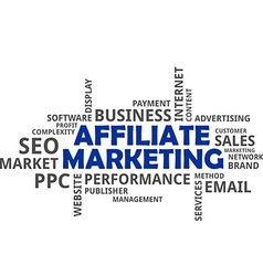 Word cloud affiliate marketing vector