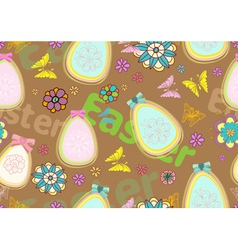 Seamless floral easter background vector
