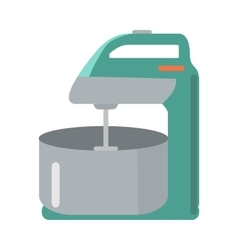 Mixer with Bowl in Flat Style Household Appliance vector image